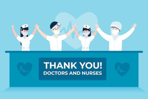 Grazie dottori e infermiere