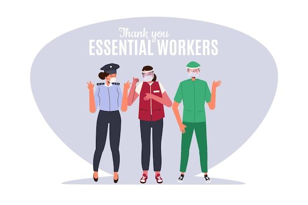 Grazie lavoratori essenziali
