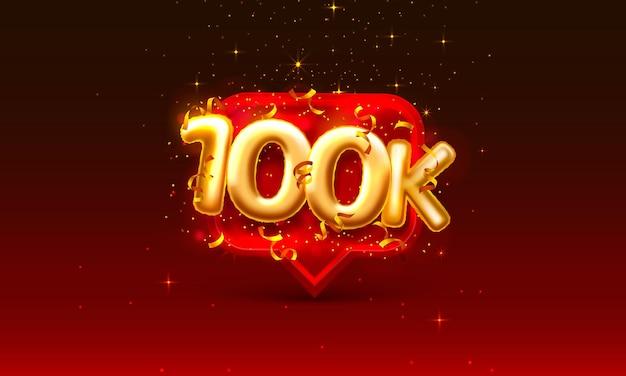 Grazie seguaci persone, 100k gruppo sociale online
