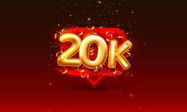 Grazie seguaci persone, 20k gruppo sociale online