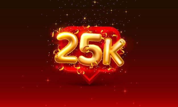 Grazie seguaci persone, 25k gruppo sociale online