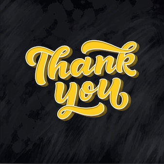 Grazie iscrizione scritta a mano. lettering 3d disegnato a mano.