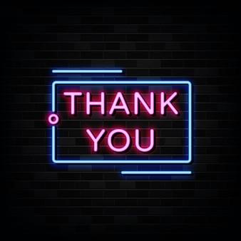 Grazie insegna al neon. insegna al neon del modello di progettazione