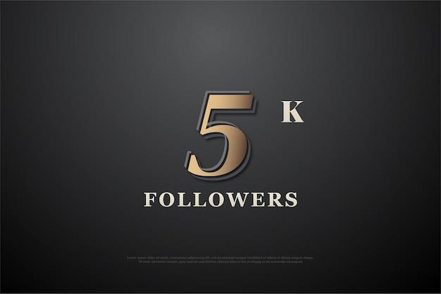 Grazie mille follower 5k con numero univoco.