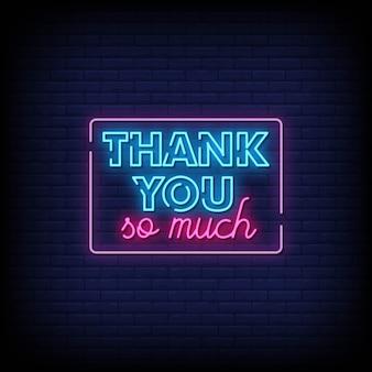 Grazie mille testo in stile insegne al neon