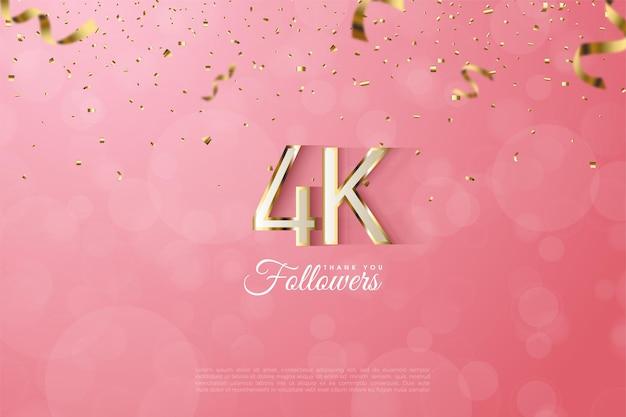 Grazie alla figura del follower 4k con un lussuoso rivestimento in oro