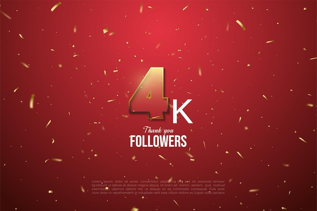 Grazie a 4k follower figure trasparenti bordate d'oro