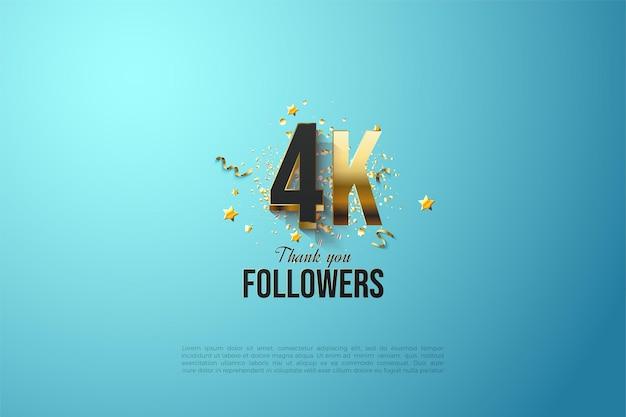 Grazie alle figure placcate in oro 4k del follower