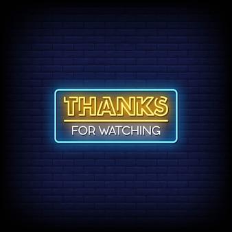 Grazie per aver guardato il testo in stile insegne al neon