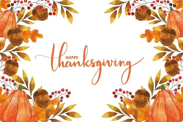Sfondo di ringraziamento con foglie