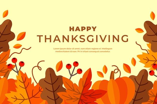 Concetto di sfondo del giorno del ringraziamento