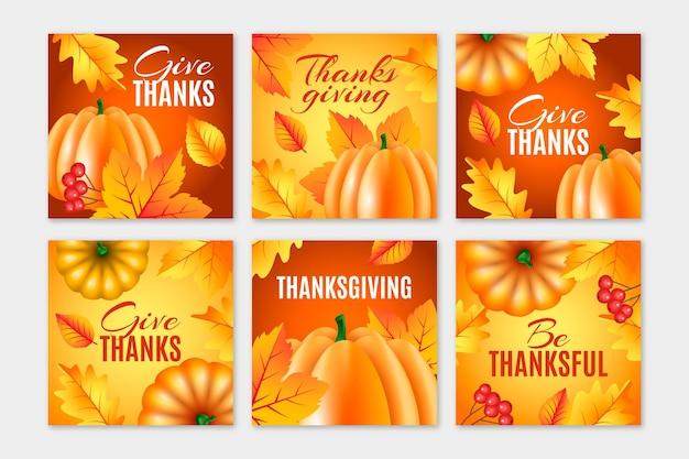 Modello di post instagram giorno del ringraziamento