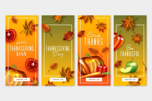 Modello di storie di instagram di giorno del ringraziamento