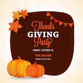 Poster del giorno del ringraziamento.