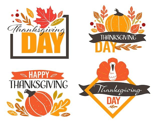 Festa del ringraziamento, striscioni per biglietti di celebrazione