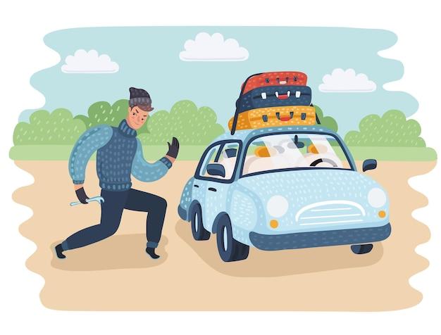 Il furto vuole un'auto aperta