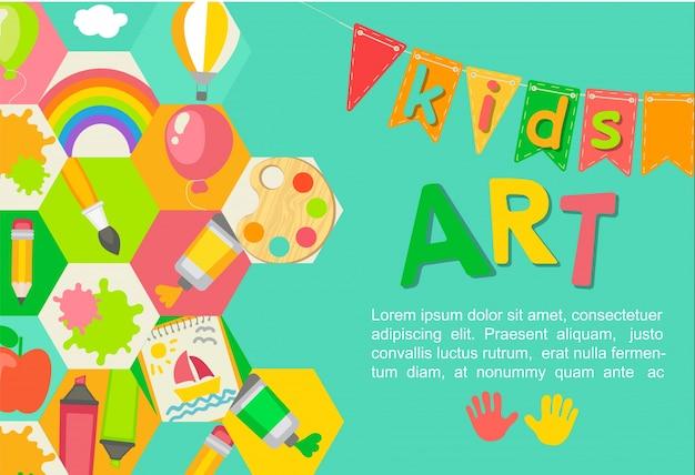 Poster a tema di arte dei bambini.