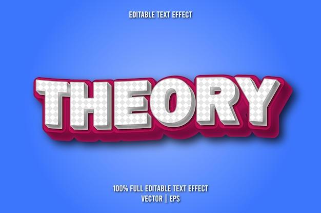 Teoria modificabile effetto testo stile fumetto