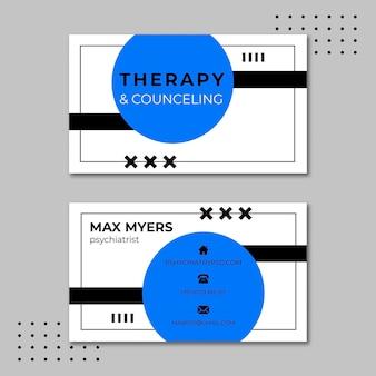 Modello di biglietto da visita orizzontale di sessioni di terapia