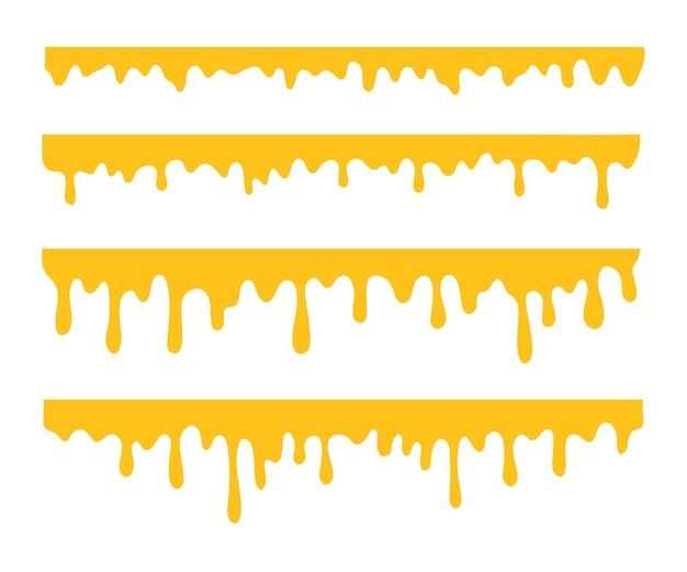 Il liquido giallo denso che gocciola sul terreno.