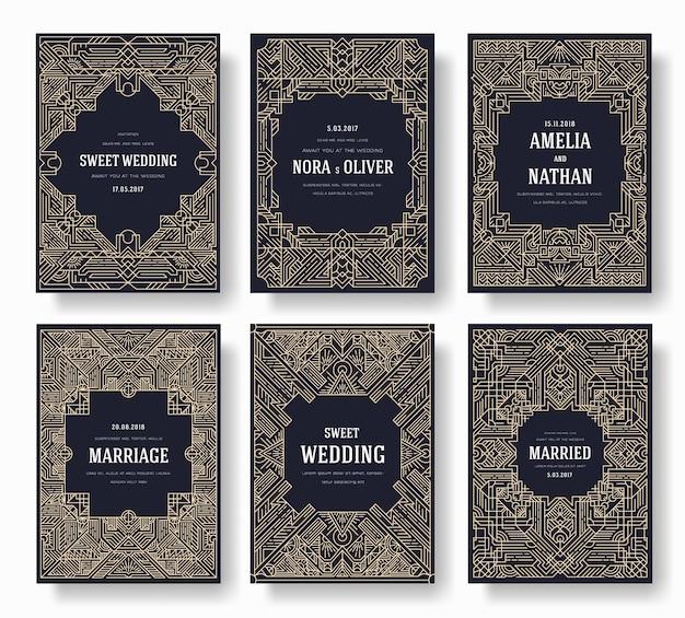 Set di disegni al tratto sottile. modello di struttura di flyear, riviste, poster, copertina di libro, banner.