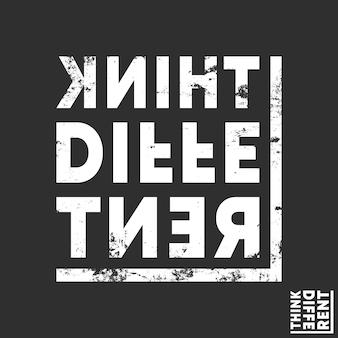 Pensa a diverse t-shirt stampate. design minimale