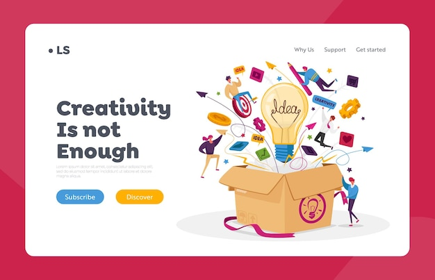 Think outside landing page template