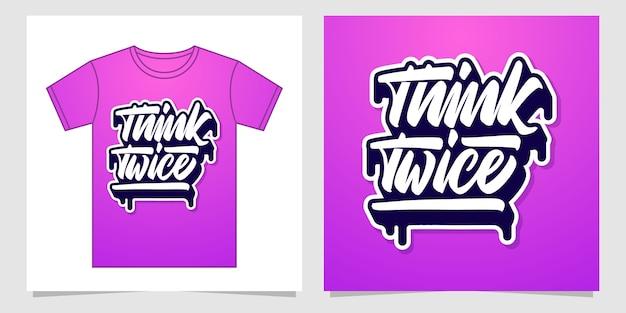 Pensa due volte al design delle lettere a mano per l'abbigliamento