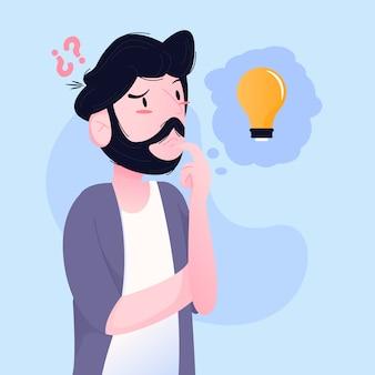 Concetto di uomo di pensiero