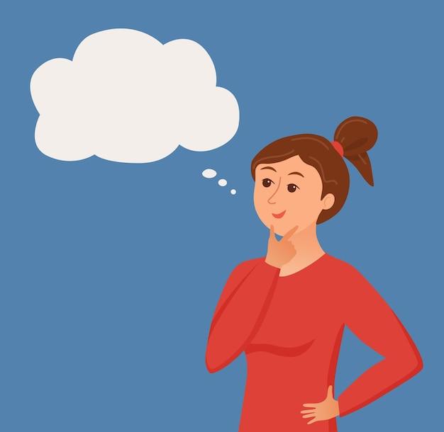 Donna pensante con nuvoletta