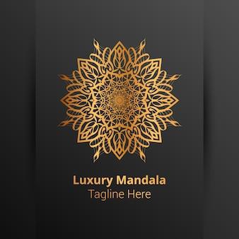 Questo è lo sfondo del logo mandala ornamentale di lusso, stile arabesco.