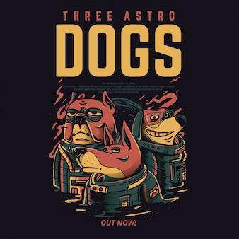 Tre cani astro