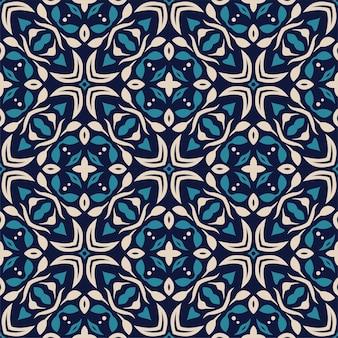 Forma astratta senza cuciture di tre colori. sfondo semplice ornamento modello