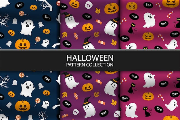 Raccolta di tre diversi modelli di halloween