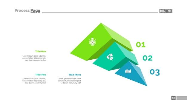 Modello di presentazione di strategia di tre elementi