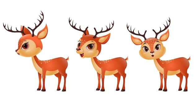Tre renne divertenti del fumetto