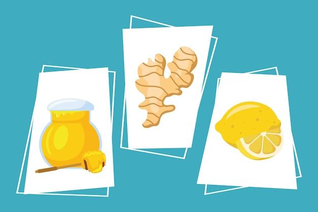 Tre rimedi casalinghi set di icone