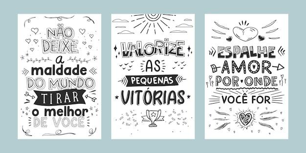 Tre frasi ispiratrici in portoghese brasiliano