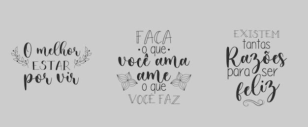 Tre frasi portoghesi motivazionali