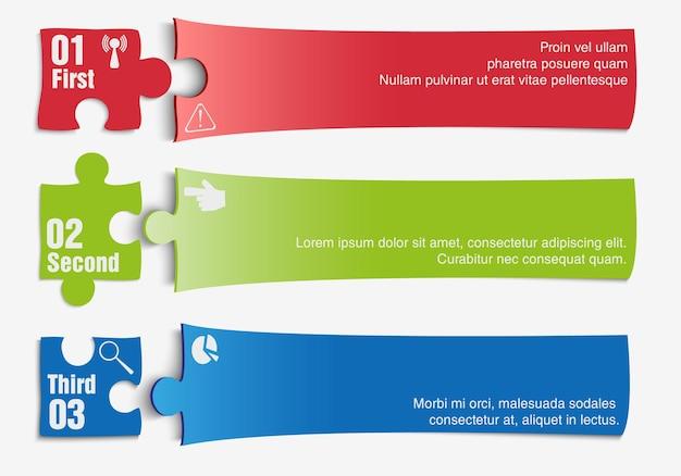 Tre fasi di avanzamento. illustrazione