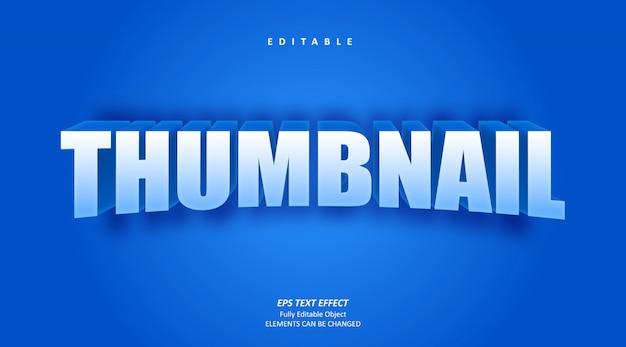 Miniatura effetto testo blu modificabile