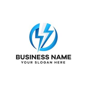 Design del logo sfumato di tuono