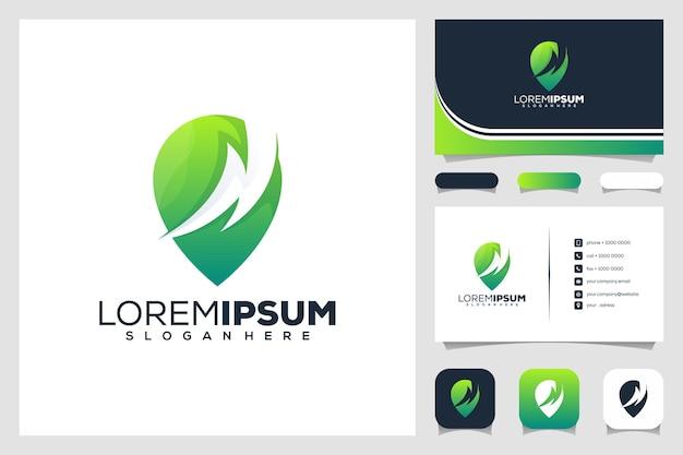 Design del logo della posizione del tuono