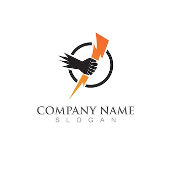 Immagine vettoriale del logo e del simbolo del fulmine