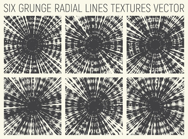 Set di texture psichedeliche decorative radiali di tie dye