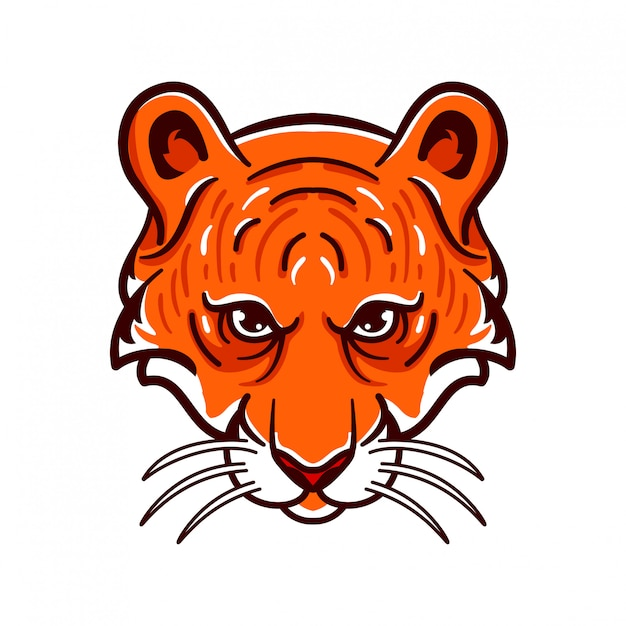 Tiger angry animals logo esports style