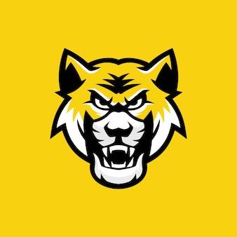 Logo della mascotte della tigre del bengala