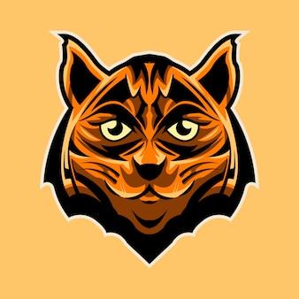 Progettazione dell'illustrazione della testa sveglia della tigre