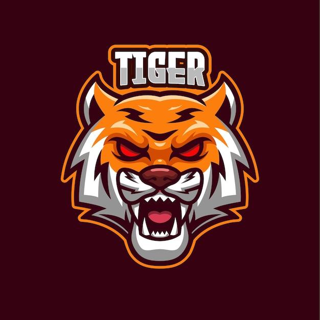 Modello mascotte logo tiger esports