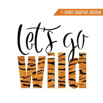 Design grafico della maglietta della tigre. fauna selvatica pelle animale tropicale moda sfondo per poster, banner, stampa, tessuto. illustrazione vettoriale